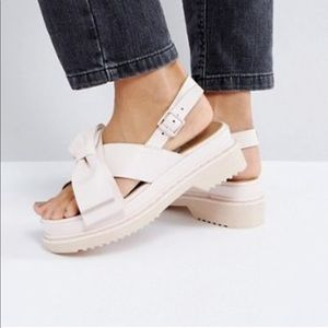 ASOS FAINT Bow Chunky Flat Sandals